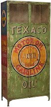 Iron made hand painted workshop cabinet texaco oil