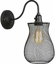 Iron Mesh Wall Light Industrial Black Wall Sconce