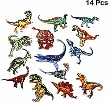 Iron On Patches Dinosaur 15Pcs Applique Kit for