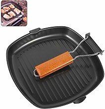 Iron Reversible Griddle Pan Plate Compatible,