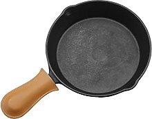 Iron Skillet Frying Pan, Non-Stick Round Picnic