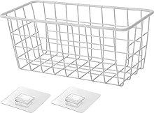 Iron Storage Basket Wall-Mounted Shelf Small Wire