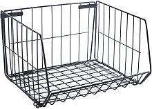 Iron Storage Basket Wire Bathroom Organizer