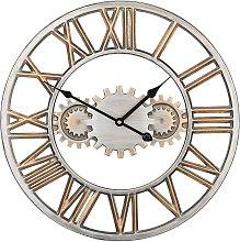 Iron Wall Clock ø 46 cm Silver and Gold SEON
