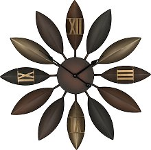 Iron Wall Clock ø 55 cm Brown BEINWIL