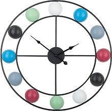 Iron Wall Clock ø 56 cm Multicolour REIDEN