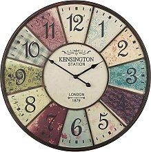 Iron Wall Clock ø 59 cm Multicolour BOSWIL