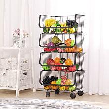 Iron Wire 4 Tier Fruit Vegetable Basket Storage