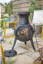 Iron Wood Burning Chiminea Belfry Heating