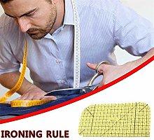 Ironing ruler, splicing sewing tool, transparent