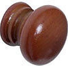 IRONMONGERY WORLD® 10 X Mahogany Wooden Round