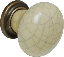 Ironmongery World 3 x Antique Brass Ceramic Bone