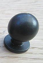 IRONMONGERY WORLD® Black Antique CAST Iron Round