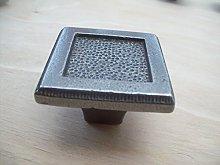 Ironmongery World Cast Iron Antique Pewter Cabinet