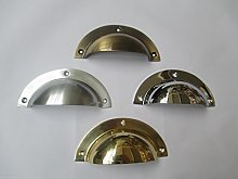 Ironmongery World® LARGE solid brass cup cupped