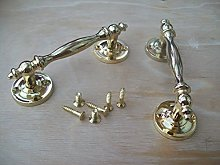 IRONMONGERY WORLD® Old English Fancy Ornate Brass