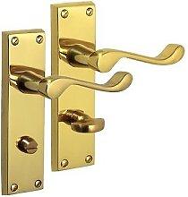 Ironmongery World Polished Brass Chrome Victorian