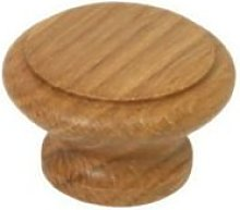 IRONMONGERY WORLD® Wooden Round Rimmed Oak