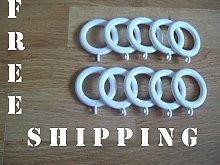 IronmongeryWorld® 10 x White Plastic Curtain Pole