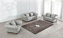 Irven 3 Piece Sofa Set Canora Grey Upholstery