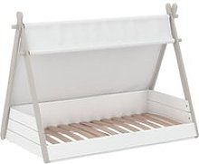 Irving Wooden Childrens Bed In Pearl White And