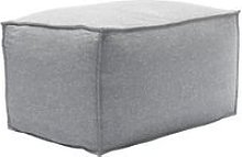 Isaac Small Rectangular Footstool in White Cliffs