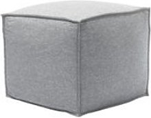 Isaac Small Square Footstool in White Cliffs