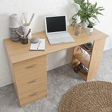 Isabella Computer Desk Zipcode Design Colour: Beech