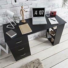 Isabella Computer Desk Zipcode Design Colour: Black