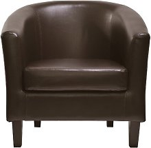 Isadora Tub Chair Zipcode Design Upholstery: Brown