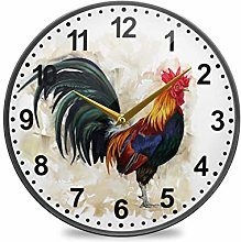 ISAOA 11.9 Inches Non-Ticking Wall Clock,Battery