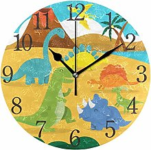 ISAOA 9.4 Inches Modern Wall Clock,Land Of