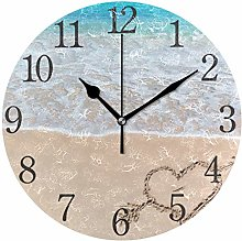 ISAOA 9.4 Inches Modern Wall Clock,Silent