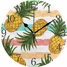 ISAOA 9.4 Inches Modern Wall Clock,Stripe With