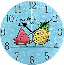 ISAOA 9.4 Inches Modern Wall Clock,Summer