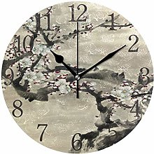 ISAOA 9.5 Inches Modern Wall Clock,Silent