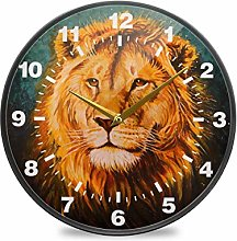 ISAOA 9.5 Inches Non-Ticking Wall Clock,Battery