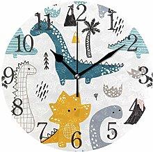 ISAOA Dinosaur Wall Clock for Boy's