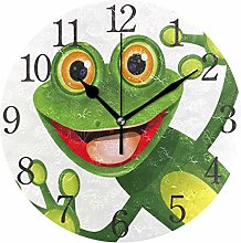 ISAOA Modern Wall Clock,Silent Non-ticking Wall