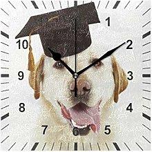 ISAOA Non Ticking Silent Wall Clock,Adorable Dog