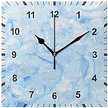 ISAOA Non Ticking Silent Wall Clock,Blue Marble