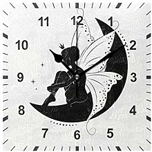 ISAOA Non Ticking Silent Wall Clock,Butterfly