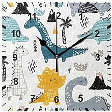 ISAOA Non Ticking Silent Wall Clock,Childish