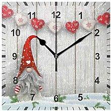 ISAOA Non Ticking Silent Wall Clock,Christmas