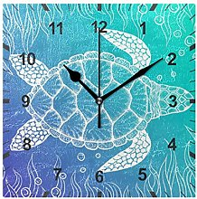 ISAOA Non Ticking Silent Wall Clock,Gradient Color