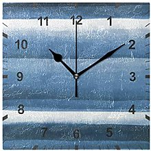 ISAOA Non Ticking Silent Wall Clock,Navy Blue