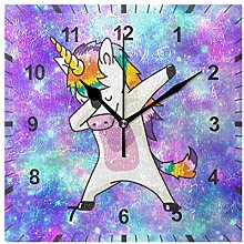 ISAOA Non Ticking Silent Wall Clock,Purple Galaxy