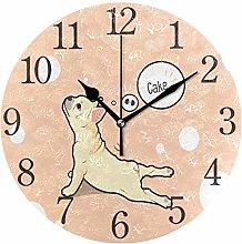 ISAOA Round Stylish Modern Wall Clock with Big