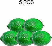 ISENPENK 5pcs Fake Fruit Lifelike Lemons