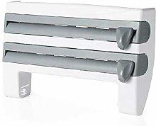 Isincer 4 i n 1 Kitchen Cling Film Storage Rack,